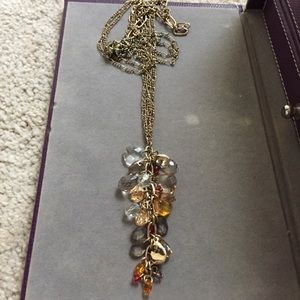 Ann Taylor LOFT gold autumn stones necklace